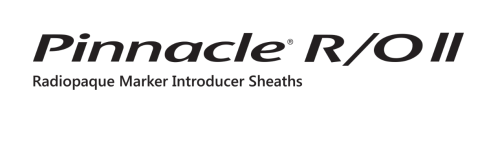 PINNACLE® R/O II Radiopaque Marker Introducer Sheaths Logo
